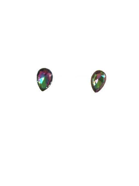 Attitude Island Margarita Elegant Button Teardrop Shaped Earrings