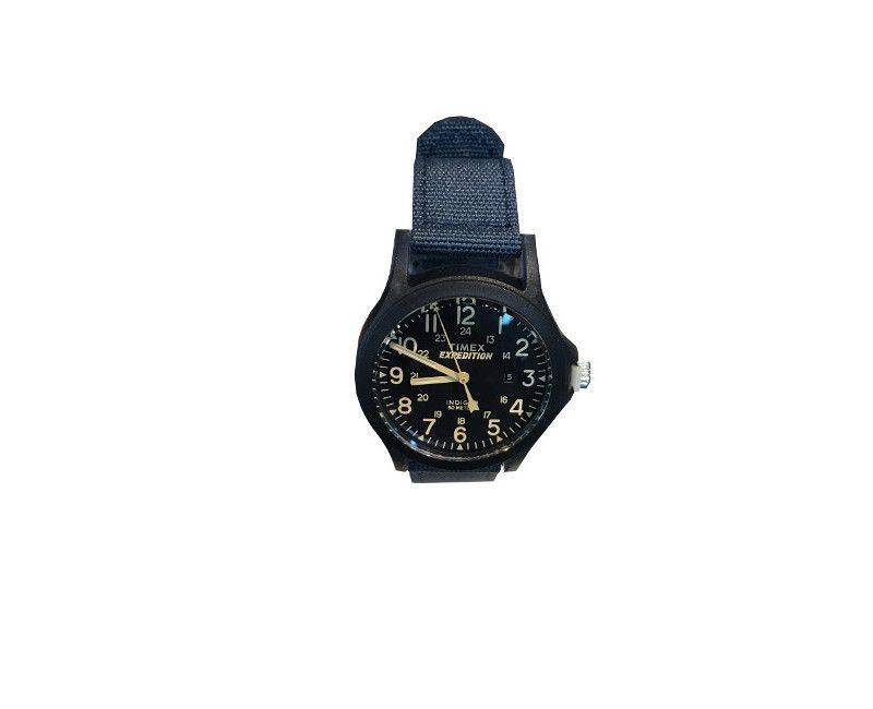 Timex Expedition Navy Blue nylon strap and navy blue face watch