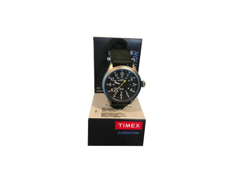 Timex Expedition Black nylon band with black face