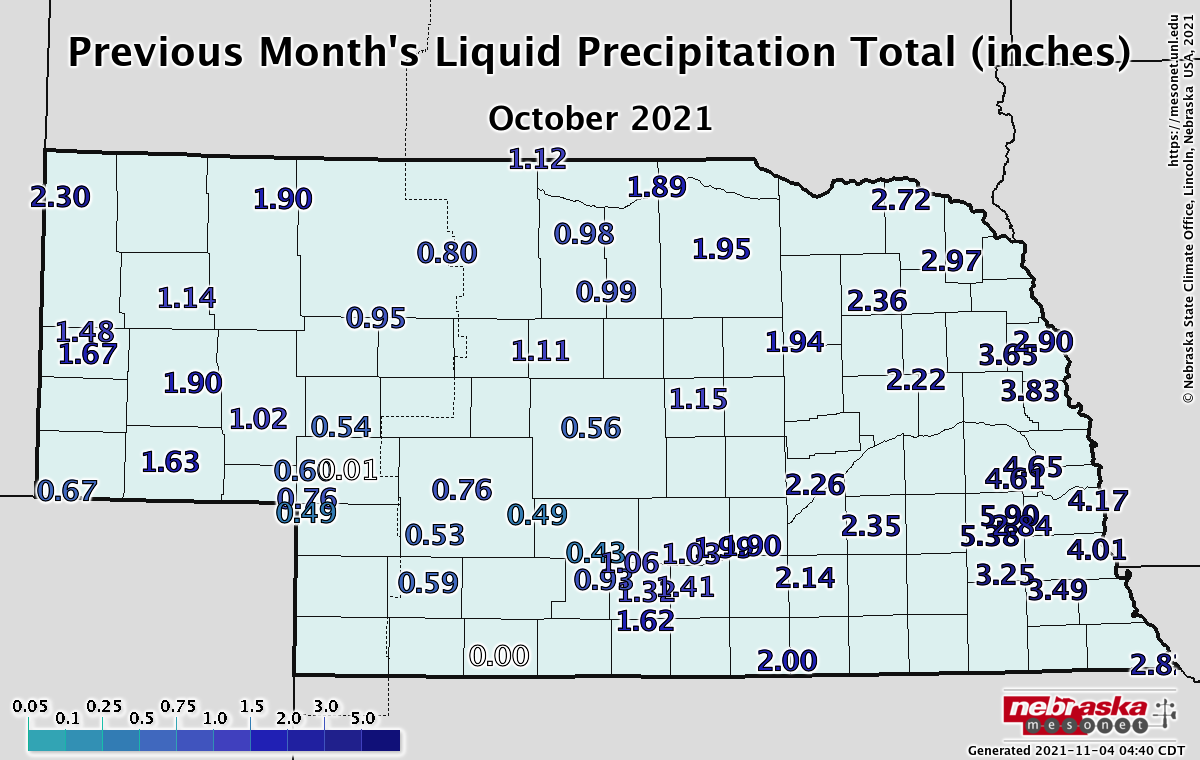 Precipitation last month