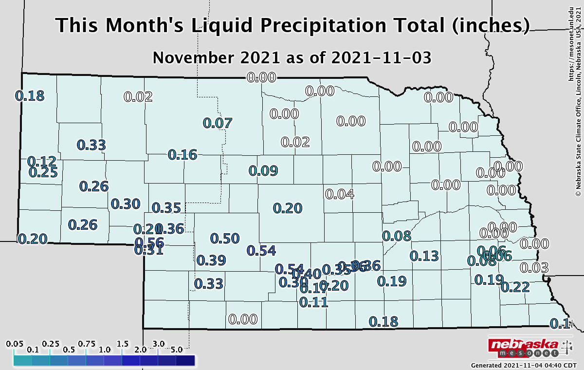 Precipitation this month to date