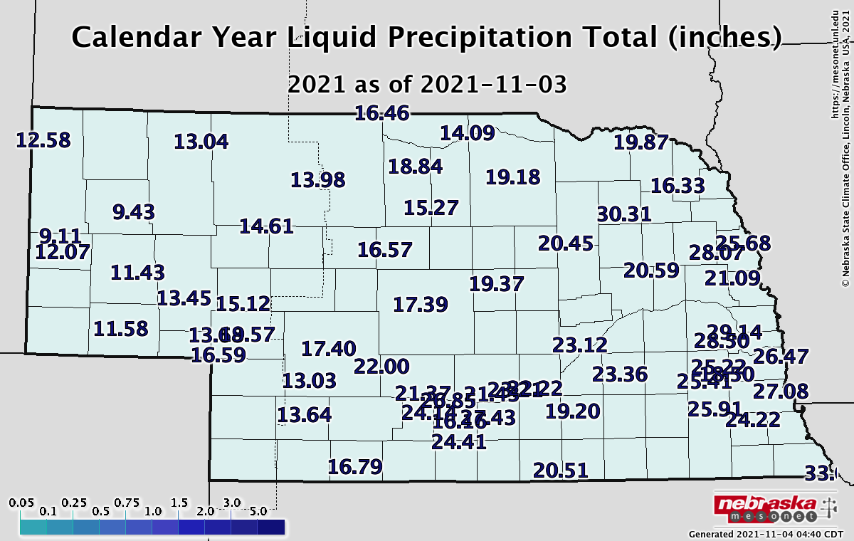 Year-to-Date Precipitation
