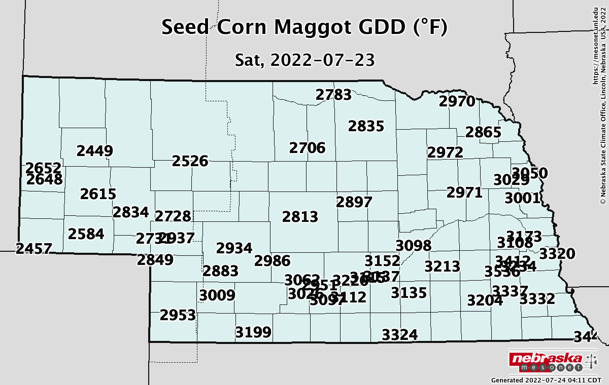Seed Corn Maggot Map