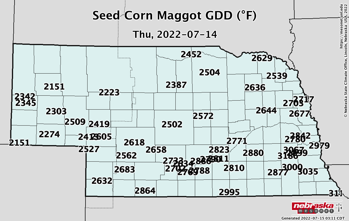 Seed Corn Maggot Map