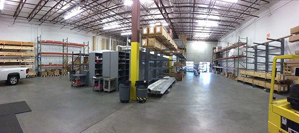 CSI North Carolina warehouse after reorganization