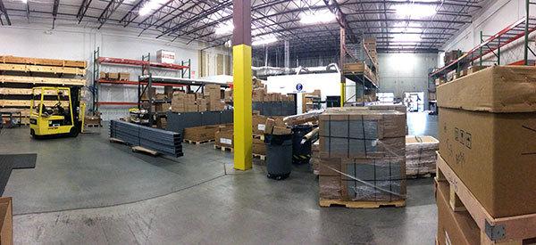 CSI North Carolina warehouse before reorganization