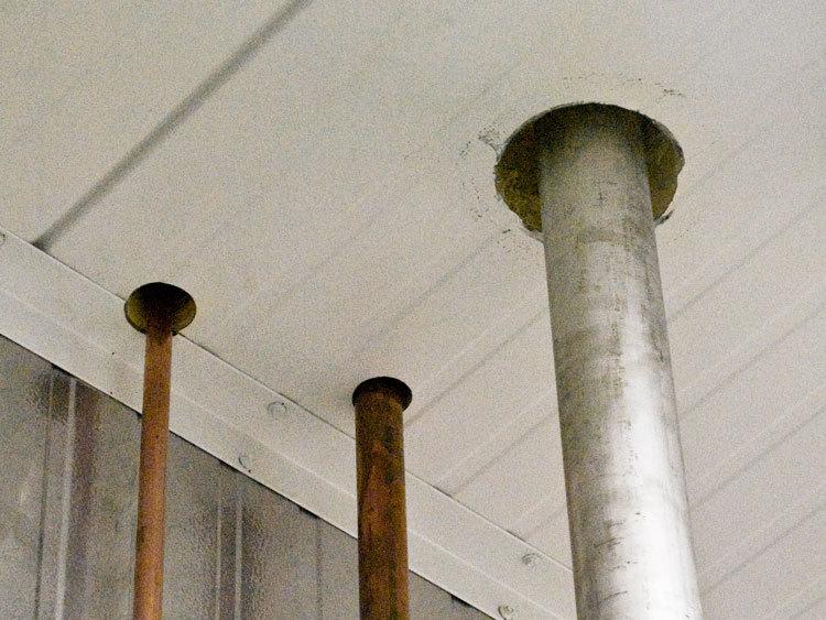 Penetrations for Sprinkler System