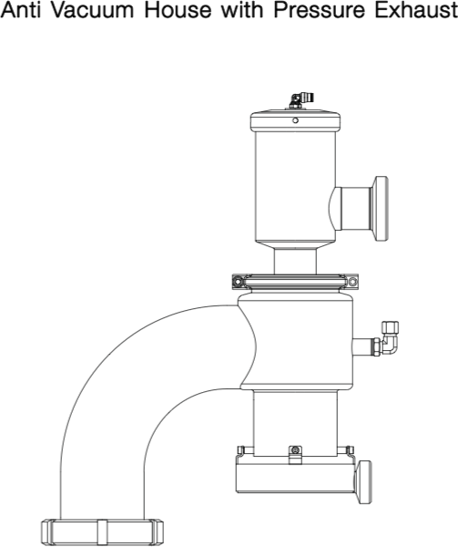 Anti Vacuum House with Pressure Exhaust