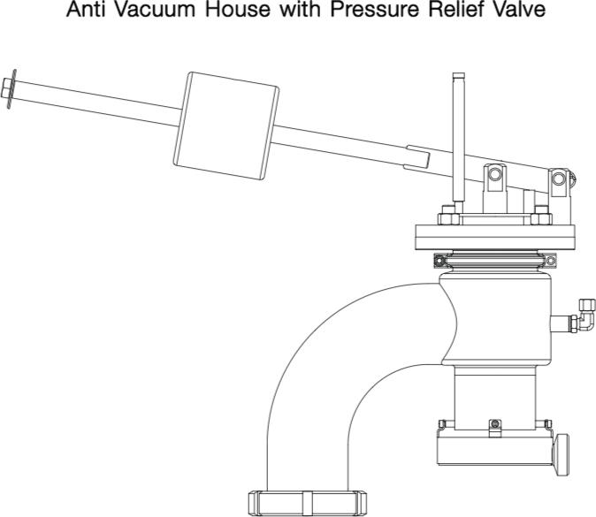 Anti Vacuum House with Pressure Relief