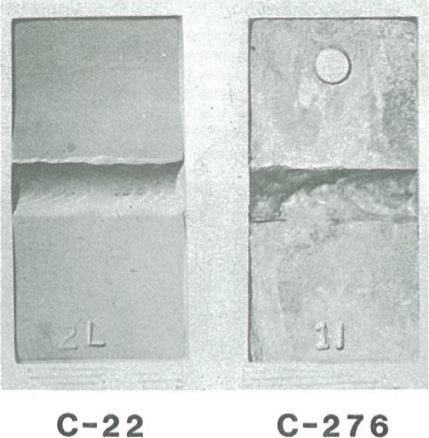 C-22 vs C-276 welds