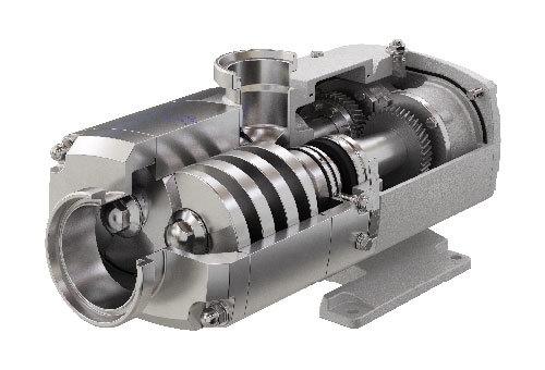 Alfa Laval OS Series Twin Screw Pump Opened