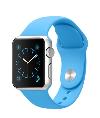 Buy Apple Watch 38mm Silver Aluminum Case with Blue Sport Band International Shipping