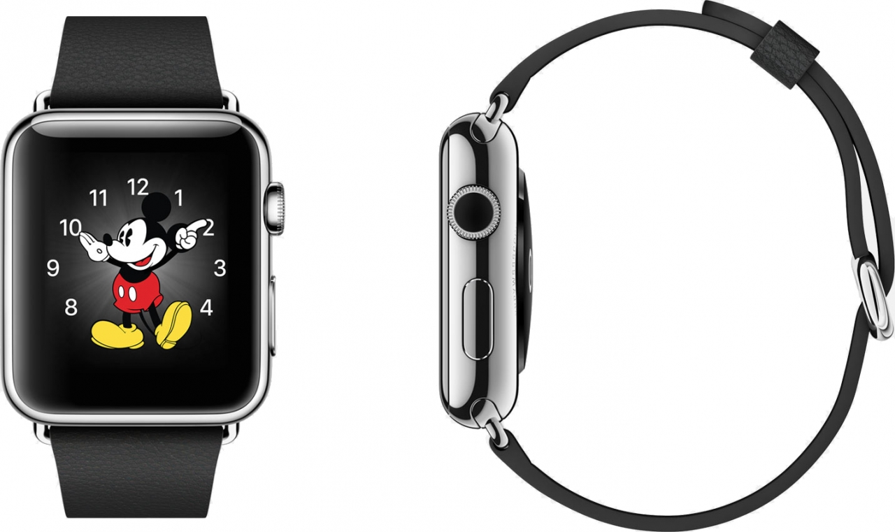 Buy Apple Watch 38mm Stainless Steel Case with Black Classic Buckle International Shipping