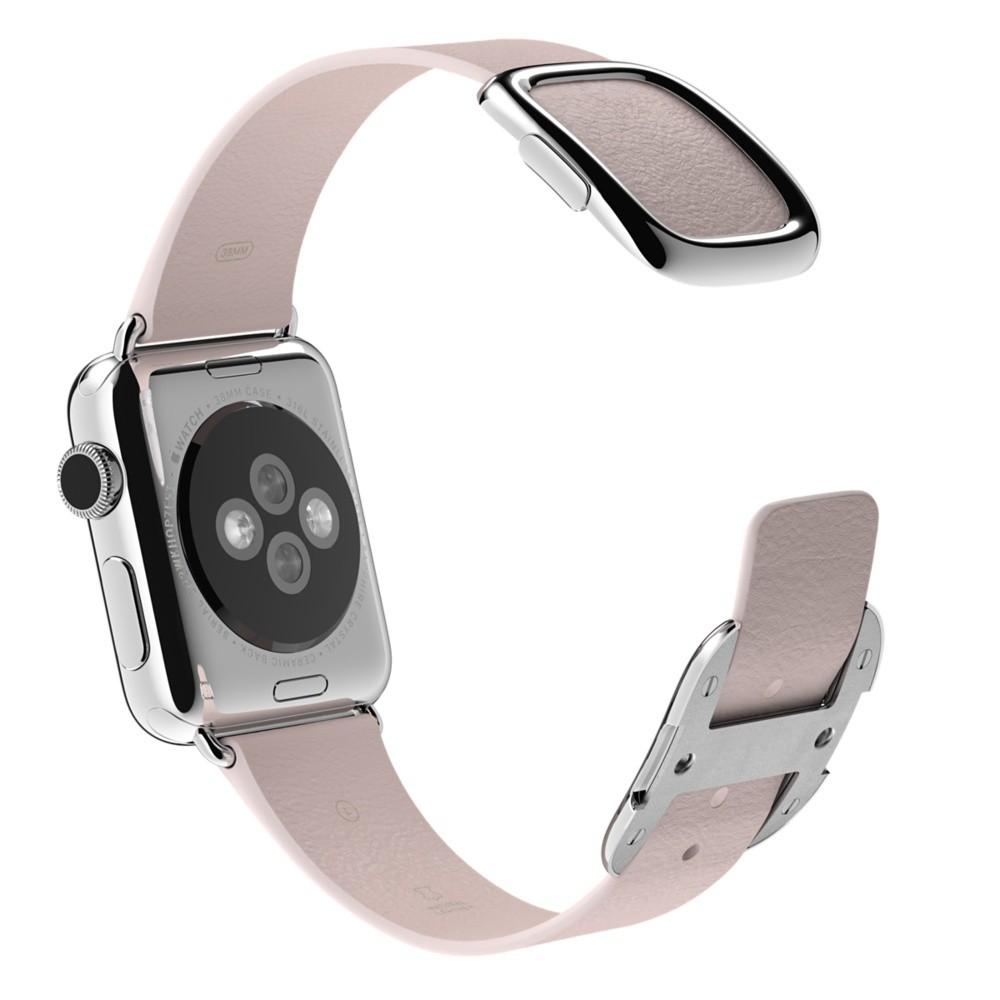 Buy USA Apple Watch 38mm Stainless Steel Case with Soft Pink Modern Buckle International Shipping