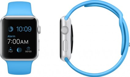 Buy USA Apple Watch 42mm Silver Aluminum Case with Blue Sport Band Online International Shipping