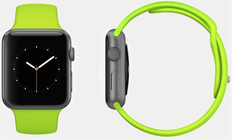 Buy USA Apple Watch 38mm Silver Aluminum Case with Green Sport Band International Shipping