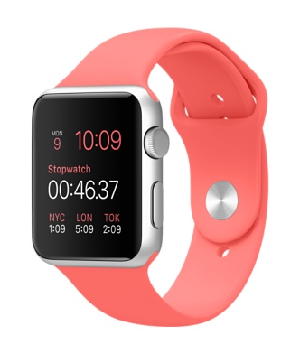 Buy Apple Watch 42mm Silver Aluminum Case with Pink Sport Band International Shipping