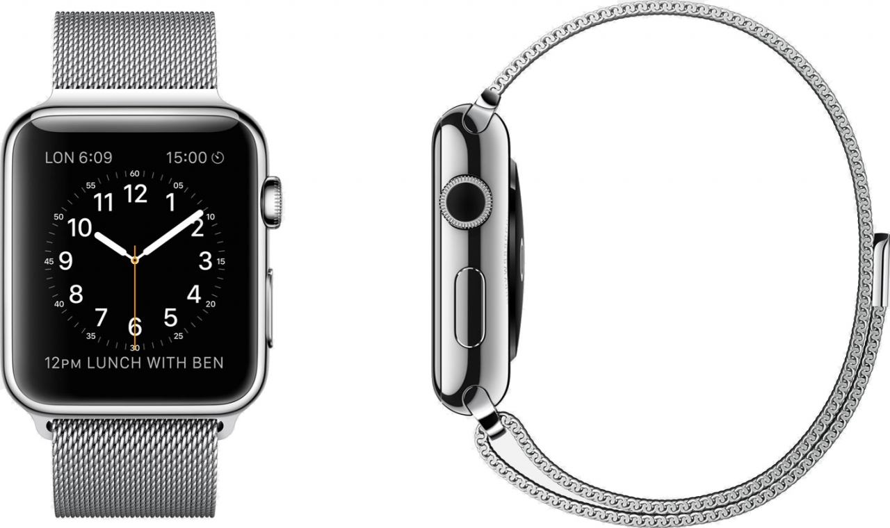 Buy USA Apple Watch 42mm Stainless Steel Case with Milanese Loop Online International Shipping
