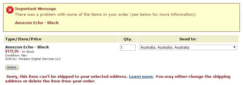 Why won't Amazon ship to my address?