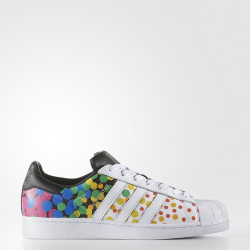 70ef694c057862 Adidas has three new pairs of original men s sneakers for Pride month—including  a rainbow pair of their Superstar style. Understated and functional