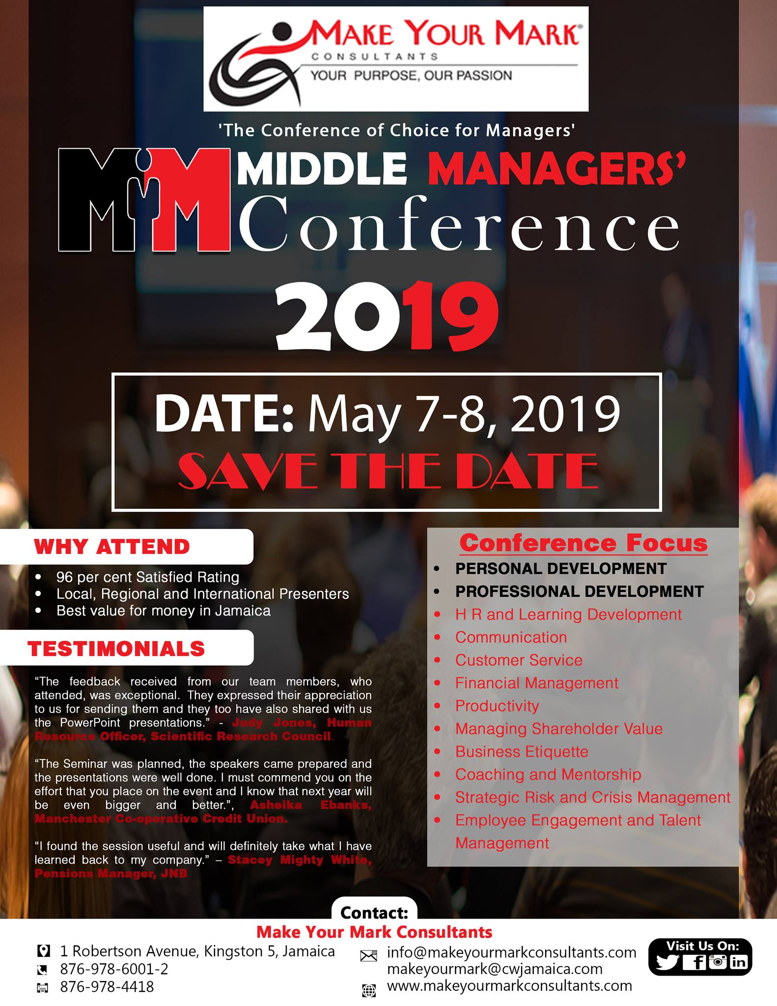 Middle Managers Conference 2019 Event | Daeventbox