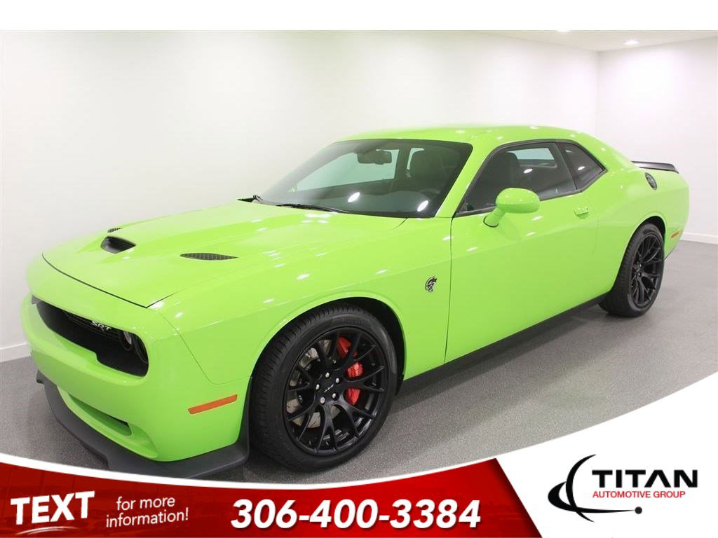Pre-Owned 2015 Dodge Challenger SRT Hellcat 6.2L Supercharged Hemi 707hp | Brembo | Harmon/Kardon | Navigation | Manual | Rare