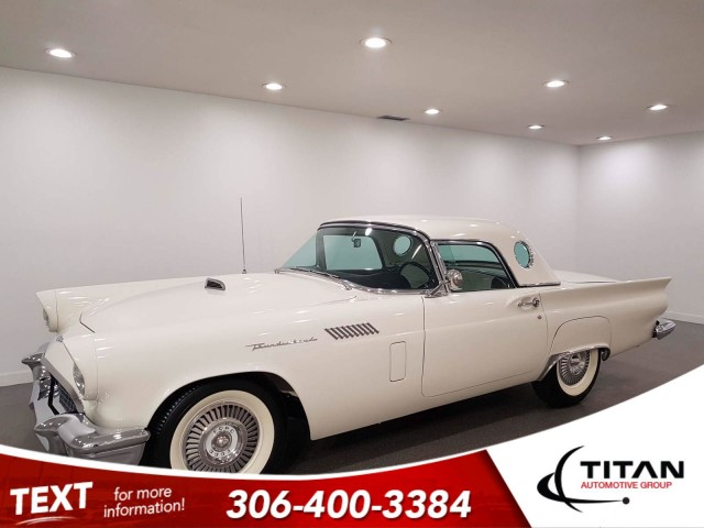 1957 Ford Thunderbird colonial white   White Walls   Auto   Convertible   Leather   Classic