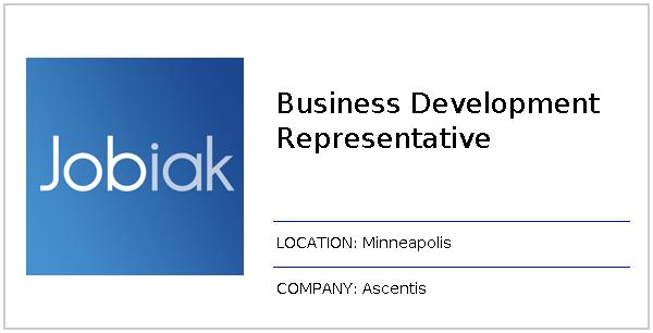 Business Development Representative job at Ascentis in