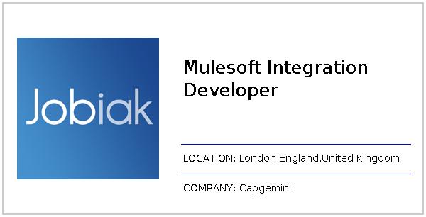 Mulesoft Integration Developer job at Capgemini in London