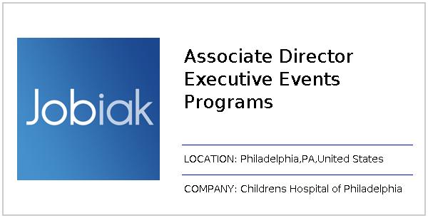 Associate Director Executive Events Programs job at