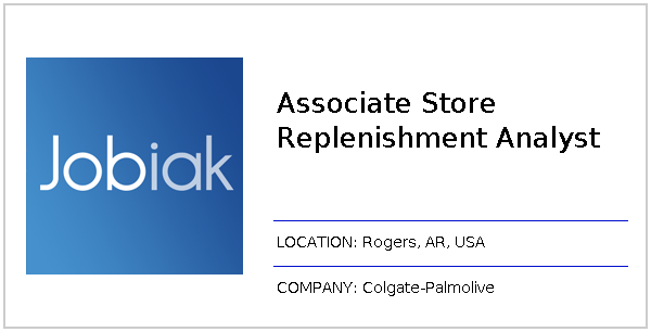 Associate Store Replenishment Analyst job at Colgate-Palmolive in ...