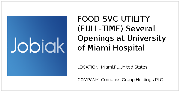 FOOD SVC UTILITY (FULL-TIME) Several Openings at University
