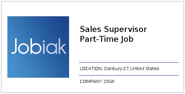 Sales Supervisor Part-Time Job job at DSW in Danbury, CT