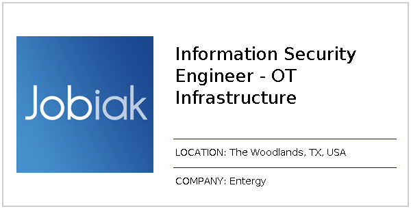 Information Security Engineer - OT Infrastructure job at