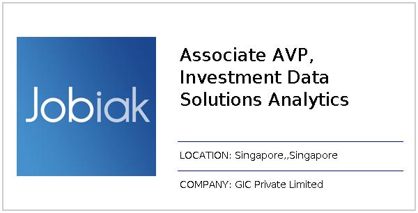 Associate AVP, Investment Data Solutions Analytics job at