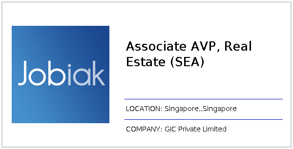 Associate AVP, Real Estate (SEA) job at GIC Private Limited