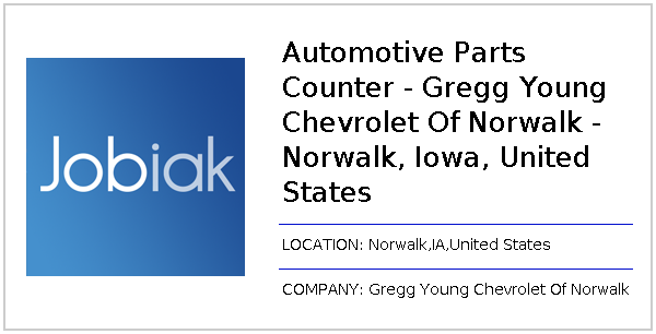 Gregg Young Norwalk >> Automotive Parts Counter Gregg Young Chevrolet Of Norwalk