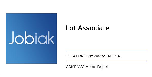 Lot Associate Job At Home Depot In Fort Wayne In Jobiak
