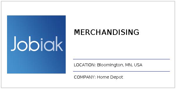 Merchandising Job At Home Depot In Bloomington Mn Jobiak
