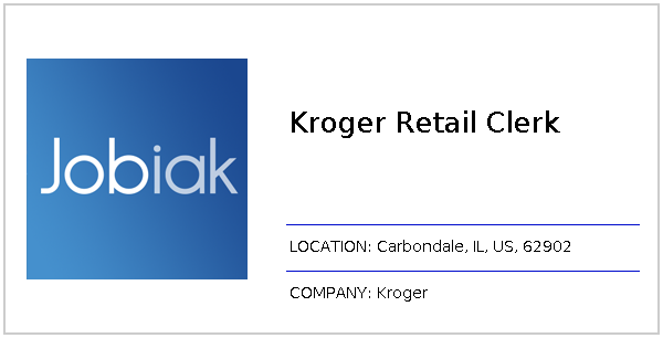 Kroger Carbondale Il >> Kroger Retail Clerk Job At Kroger In Carbondale Il 62902