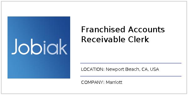 Franchised Accounts Receivable Clerk job at Marriott in Newport