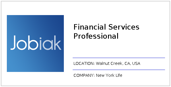 Financial Services Professional Apply On New York Life