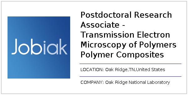 Postdoctoral Research Associate - Transmission Electron