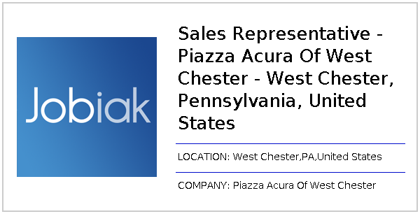 Piazza Acura Of West Chester >> Sales Representative Piazza Acura Of West Chester West Chester