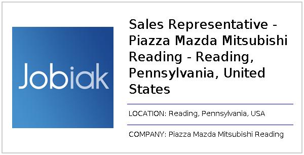 Piazza Mazda Of Reading >> Sales Representative Piazza Mazda Mitsubishi Reading Reading