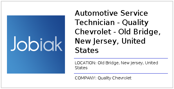 Automotive Service Technician Quality Chevrolet Old