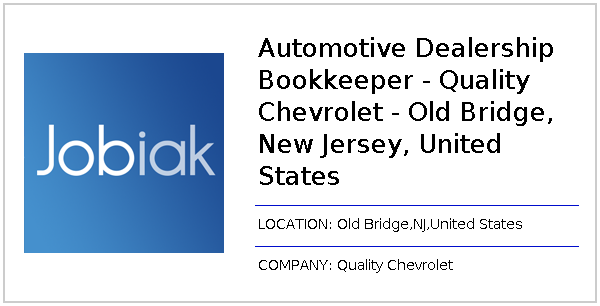 Automotive Dealership Bookkeeper Quality Chevrolet Old