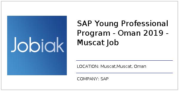 SAP Young Professional Program - Oman 2019 - Muscat Job job at SAP