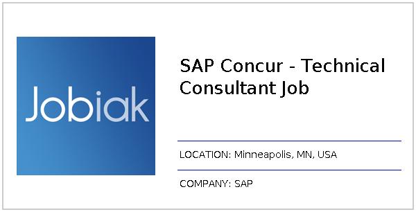 SAP Concur - Technical Consultant Job job at SAP in Minneapolis, MN