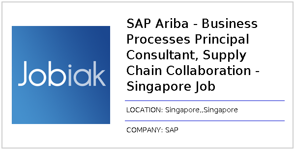 SAP Ariba - Business Processes Principal Consultant, Supply Chain